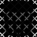 Paper Bin Dustbin Icon