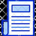 Paper Document Write Icon