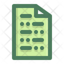 Paper Document School Icon