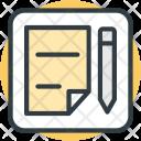 Paper Sheet Pen Icon