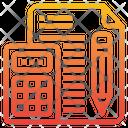 Calculator Paper Pencil Icon