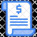 Paper Invoice Statement Icon