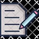 Paper Pen Sheet Icon