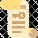 Paper Key Document Icon