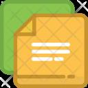 Paper Files Document Icon