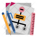 Paper Mind Mapping Stationary Icon