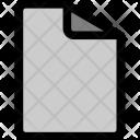 Paper Script Blank Icon