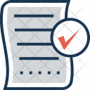 Paper Approved Checked Icon