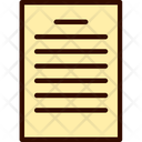 Paper Page Form Icon