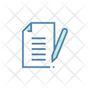 Paper And Pen Notes Paper Icon