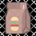 Paper Bag Burguer Bag Shopping Icon