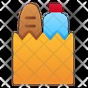 Paper Bag Food Bottle Milk Icon