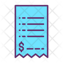 Paper Bill Dollar Bill Invoice Icon