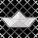 Origami Paper Boat Paper Art Icon