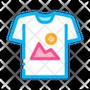 Colorful Print T Shirt Icon