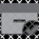 Paper Box Tick Verified Storage Box Verified Box Icon