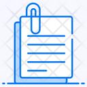 Paper Clip Attachment Paper Fastener Icon