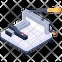 Paper Cutting Machine Paper Cutting Tool Icon
