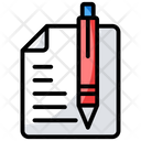Paper Document Writing Sketching Icon