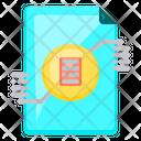 Paper Graph Circle Icon