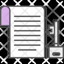 Paper Key Icon