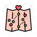 Map Love Place Icon