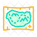 Medieval Map Color Icon