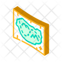Medieval Map Isometric Icon