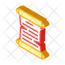 Paper Scroll Isometric Icon