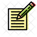 Paper Pencil Document Paper Icon