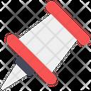 Paper Pin Thumbtack Pushpin Icon