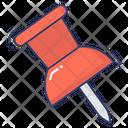 Paper Pin Push Pin Attachment Icon