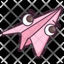 Paper Plane Origami Plane Aeroplane Icon