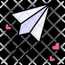 Plane Paper Plane Love Trail Icon
