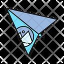 Paper Plane Logo Merchandise Icon