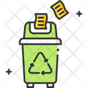 A Paper Recycle Bin Paper Recycling Garbage Recycling Icon
