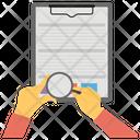 Paper Sheet Analysis Icon