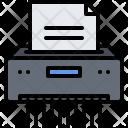 Paper Shredder Document Icon