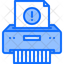 Destruction Document Violation Icon