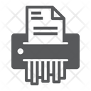 Paper Document Shredder Icon