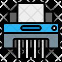 Paper Shredder Destroy Device Icon