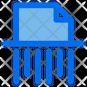 Paper Shredder File Shred Icon