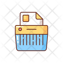 Paper Shredded Office Icon