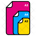 Paper Size File Size Letter Icon