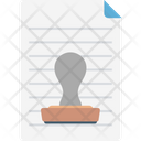 Paper Stamp Paper File Icon