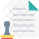 Paper Stamp Paper File Icon
