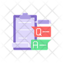Paper With Question And Answer Icon