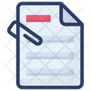 Attached File Document Paperclip Icon