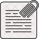 Paperclip Document Icon
