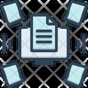Dematerialisation Paperless Storage Icon